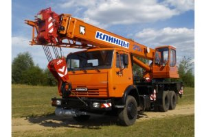 КС-55713-1К «Клинцы» на базе шасси КамАЗ-65115 (6 х 4)
